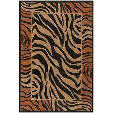 Safari Brown/Black Zebra Print Area Rug