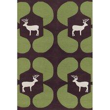 Avalisa Green Deer Novelty Rug