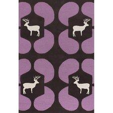 Avalisa Purple Deer Novelty Rug