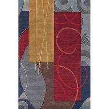 Bense Garza Red/Grey Area Rug