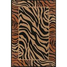 Safari Brown/Black Area Rug