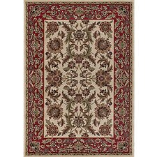 Silver Brown/Red Area Rug