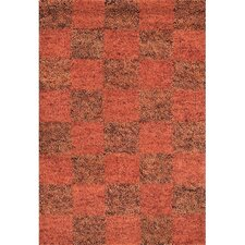 Strata Brown/Red Area Rug