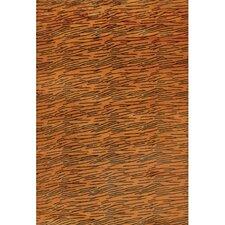 Strata Orange Area Rug