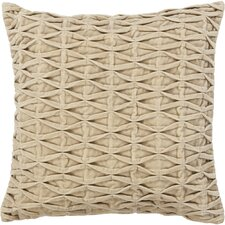 Textured Beige Throw Pillow