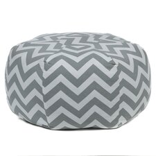 Textured Contemporary Printed Pouf