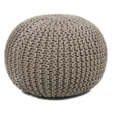 Textured Contemporary Cord Pouf Ottoman