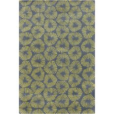 Stella Patterned Contemporary Wool Gray/Green Area Rug