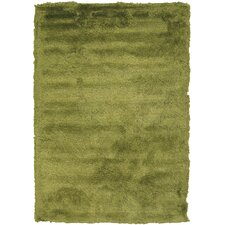 Mercury Textured Contemporary Green Area Rug
