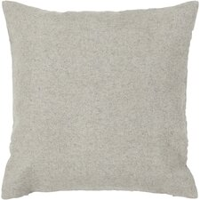 Textured Contemporary Wool Throw Pillow