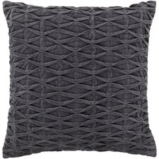 Textured Contemporary Cotton Throw Pillow