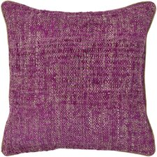 Textured Contemporary Silk Throw Pillow