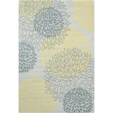 Stella Patterned Contemporary Wool Gray/Yellow Area Rug