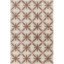 Allie Hand Tufted Wool Tan/Brown Area Rug