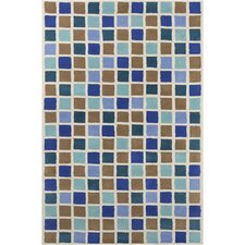 Allie Hand Tufted Wool Blue/Brown Area Rug