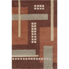 Allie Hand Tufted Wool Brown/Gray Area Rug