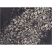 INT Hand Tufted Rectangle Contemporary Black/Cream Area Rug