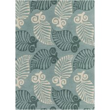INT Hand Tufted Rectangle Transitional Green/Cream Area Rug