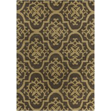 INT Hand Tufted Rectangle Contemporary Tan/Brown Area Rug