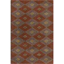Allie Hand Tufted Wool Rust/Brown Area Rug