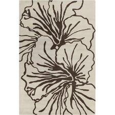 Allie Hand Tufted Wool Beige/Dark Brown Area Rug