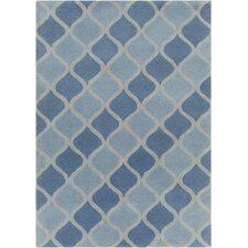 INT Hand Tufted Rectangle Contemporary Aqua/Blue Area Rug