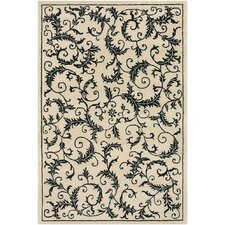 Metro Hand Tufted Rectangle Contemporary Ivory/Black Area Rug
