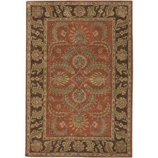 Scotia Hand Tufted Traditional Rust/Brown Area Rug
