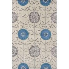 INT Hand Tufted Rectangle Transitional Blue/Gray Area Rug
