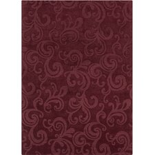 Jaipur Hand Tufted Rectangle Transitional Burgundy Area Rug