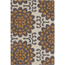 Amy Butler Orange Wallflower Area Rug