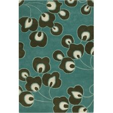 Amy Butler Bright Buds Blue/Black Area Rug