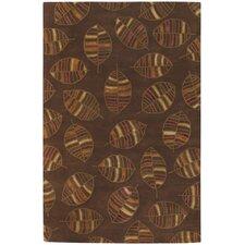 Rowe Brown Leaf Area Rug