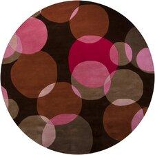 Avalisa Black/Pink Area Rug