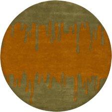Faro Green Orange Area Rug