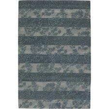 INT Olive/Light Gray Floral Stripe Area Rug