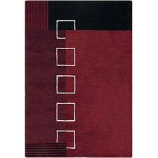 INT Red/Black Geometric Area Rug
