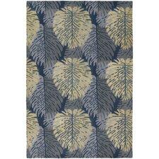 Alfred Shaheen Designer Blue/Ivory Area Rug