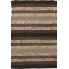 Gardenia Brown/Tan Stripes Area Rug