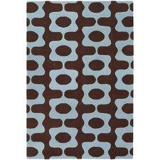 Inhabit Designer Brown/Blue Area Rug