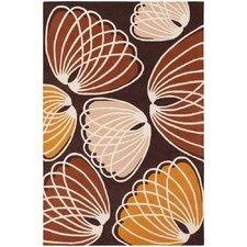 Inhabit Designer Brown/Orange Area Rug