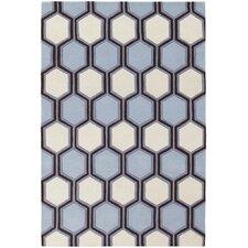 Inhabit Designer Blue/Off White Area Rug
