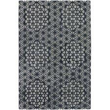 Parson Gray Designer Black/White Rug