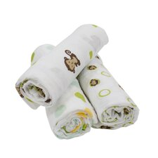 Curly Tails 3 Piece Swaddle Blanket Set