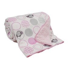 Pinkie Velour/Sherpa Blanket