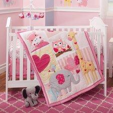 Bubblegum Jungle 3 Piece Crib Bedding Set