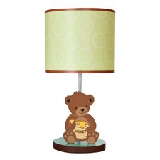 "Honey Bear 16.25"" H Table Lamp with Drum Shade"