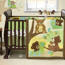 Honey Bear 3 Piece Crib Bedding Set