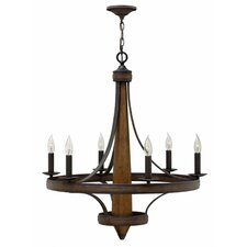 Bastille 6 Light Candle Chandelier