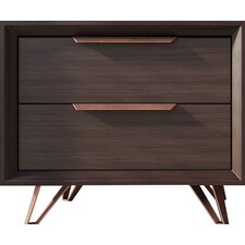 Grand 2 Drawer Nightstand